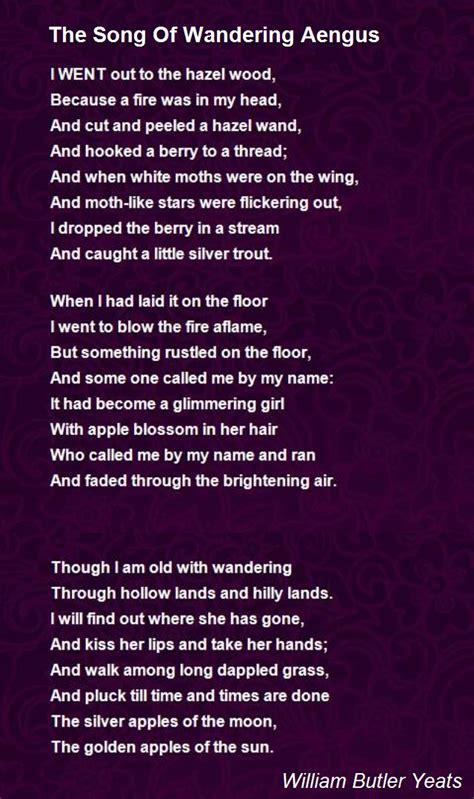 song  wandering aengus poem  william butler yeats