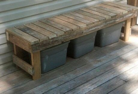 bench   pallets  hide  recycling bins