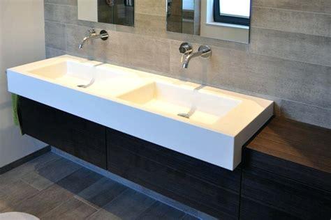 Moderne Badezimmer Waschtische by Badezimmer Waschtisch Beton Mit Doppel Aufsatzwaschbecken