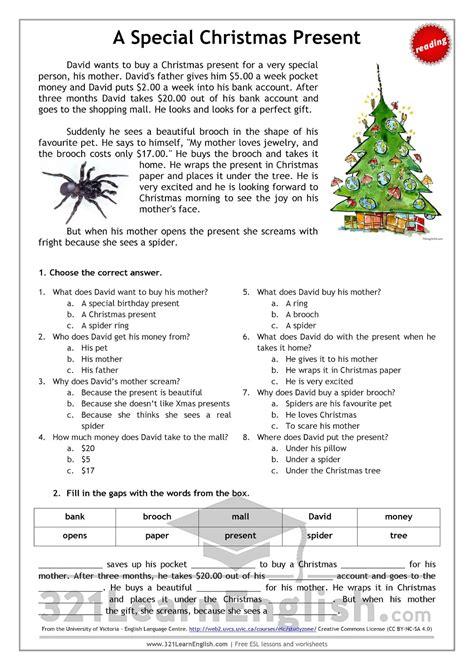 worksheet christmas comprehension worksheets grass fedjp worksheet study site