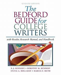 9780312412524  The Bedford Guide For College Writers With