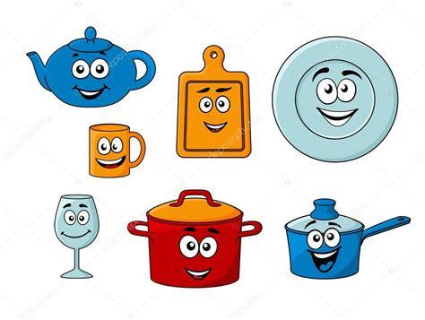 dessin animé de cuisine collection d 39 ustensiles de cuisine de dessin animé image