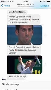 Eurosport Can 2017 : french open 2017 eurosport launches facebook chatbot for roland garros french open 2017 ~ Medecine-chirurgie-esthetiques.com Avis de Voitures