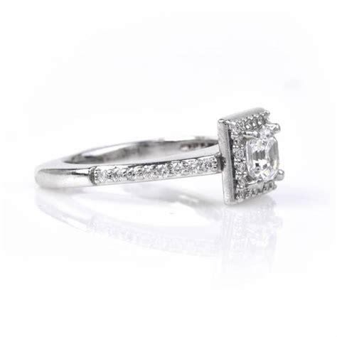 deco 75 carat cert asscher cut platinum engagement ring for sale at 1stdibs