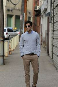Menu0026#39;s casual khakis button up u0026 light sweater | wear | Pinterest | Grey sweater Style and ...