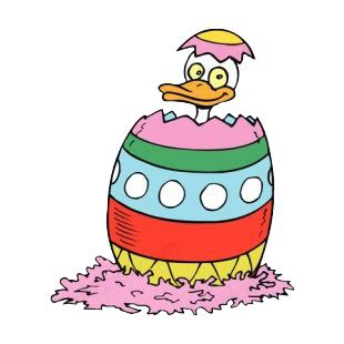 Duck Boat Easter Egg by Easter Egg With Duck Easter Decals Decal Sticker 10614