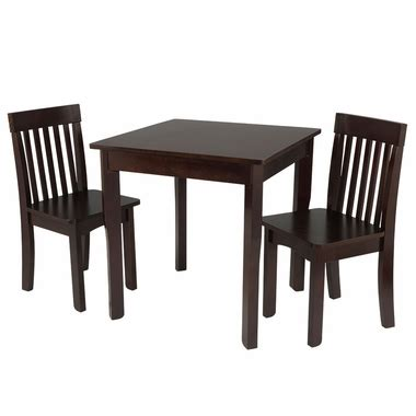 espresso square table and 2 avalon chairs set 26643 by