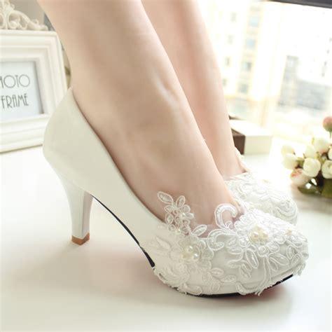 Women Pumps Wedding Shoes Large Size 41 42 Handmade Lace