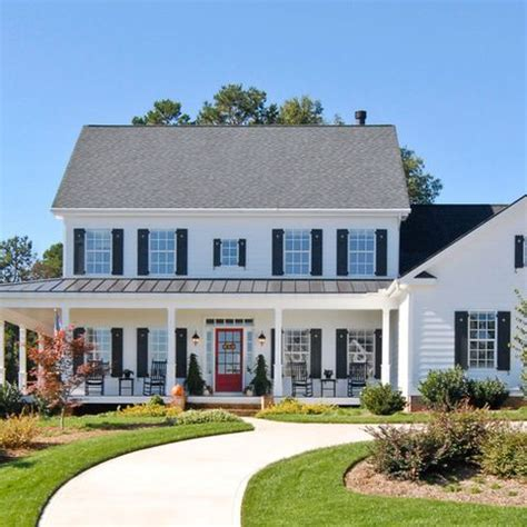 Colonial Front Porch Designs by Colonial With A Front Porch Addition Lovely