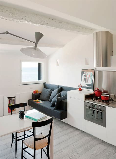 small modern attic apartment  harbour view
