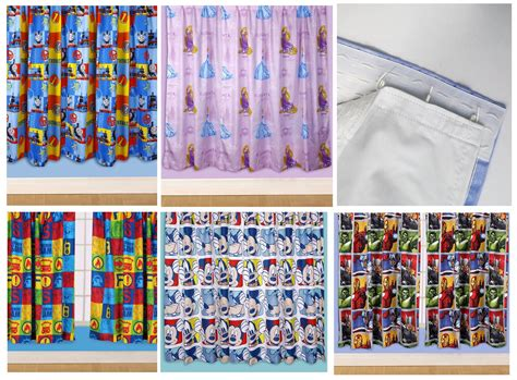 Kids Disney And Character Curtains + Inch Drop