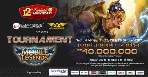 Mobile Legends Tournaments Electronic Solution 2017