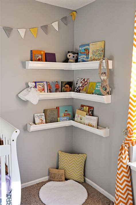 Rain Gutter Shelves Nursery Book Corner Lucys Room