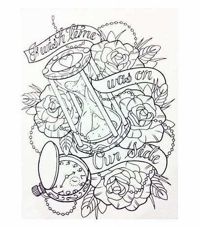 Tattoo Tattoos Hourglass Sablier Clock Permanent Something