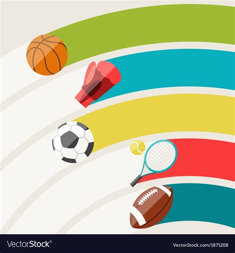 abstract background  sport icons royalty  vector