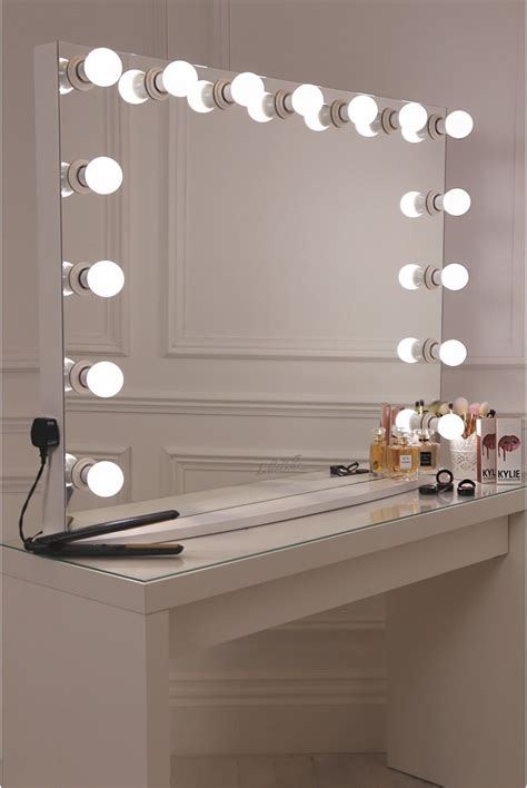 white desk with mirror and lights diy vanity mirror with lights for bathroom and makeup
