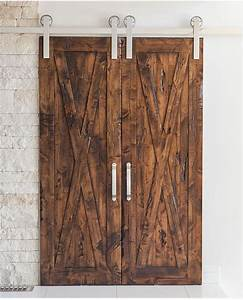 rustica bi parting barn door hardware system With bi parting sliding barn doors