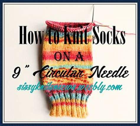 knit socks    circular needle sock
