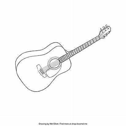 Guitar Coloring Printable Acoustic