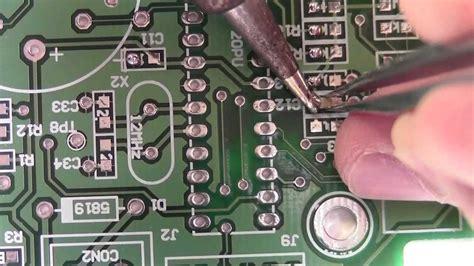 How Solder Smt Resistors Capacitors Youtube