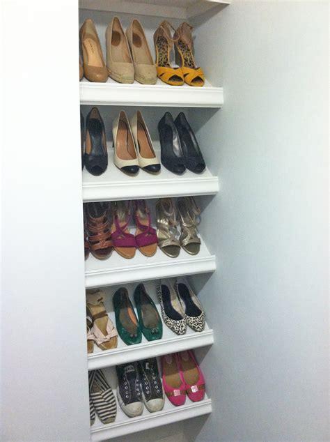 designer shoe shelves   budget ana white