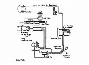 Vacuum Hose Diagram For A 1992 Toyota 4runner V6 3 0liter