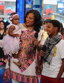 BABY MILEY SIMMONS,MOM JUSTINE,AND BROTHER DIGGY ON MTVTRL ...