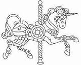 Coloring Steampunk Pages Carousel Wyvern sketch template