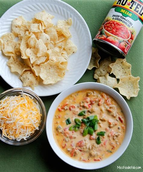 rotel dip recipe double cheeseburger rotel queso dip recipe chefthisup
