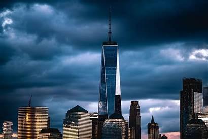 York Clouds Freedom Tower Usa 4k Under