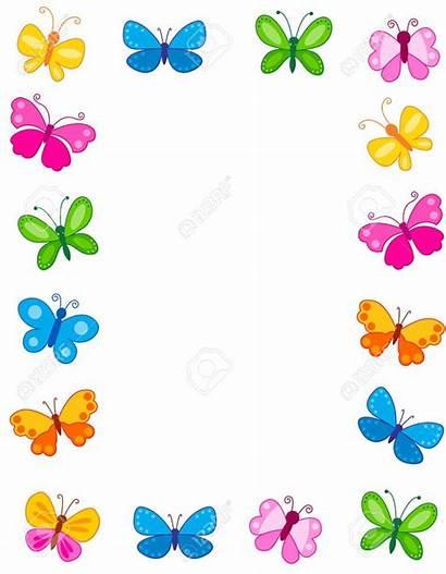 Butterfly Frame Frames Butterflies Colorful Border 123rf