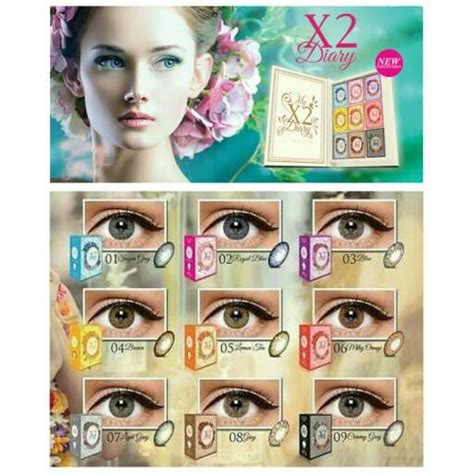 Harga Softlens Merk X2 jual softlens x2 diary baru aksesoris perhiasan wanita