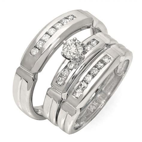 luxurious trio marriage rings  carat  cut diamond