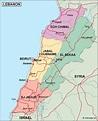 lebanon political map. Eps Illustrator Map | Vector World Maps