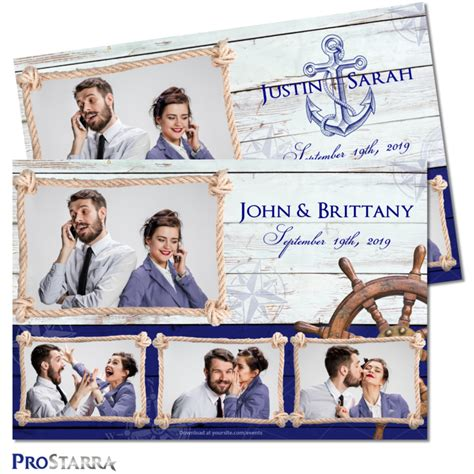 nautical postcard template wedding photo booth templates layouts designs