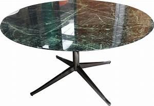 Table Ronde En Marbre : table ronde en marbre vert florence knoll 1980 design ~ Teatrodelosmanantiales.com Idées de Décoration