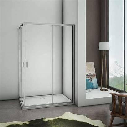 Shower Door Cubicle Glass Enclosure Walk Entry