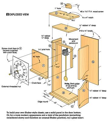 plans ideas  week grandfather clock woodworking plans