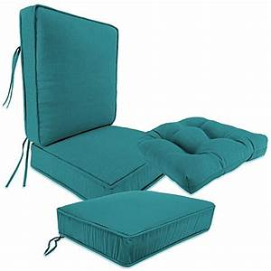 Outdoor seat cushion collection in husk texture lagoon for Bed bath beyond gel seat cushion