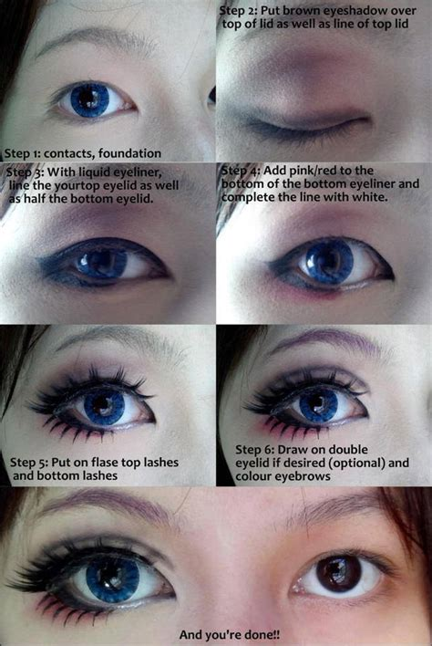 Anime Eye Makeup Without Fake Eyelashes How To Do Anime Makeup Without Fake Eyelashes Saubhaya