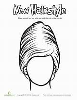 Coloring Education Hairstyle Worksheet Hairstyles Different sketch template