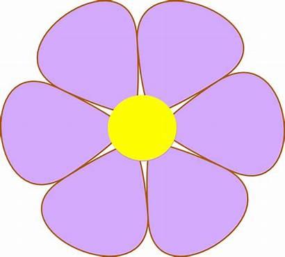 Purple Flower Flowers Clipart Clip Daisy Cliparts