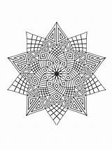 Coloring Stars Zentangle Adults Printable Adult Mycoloring Teens sketch template