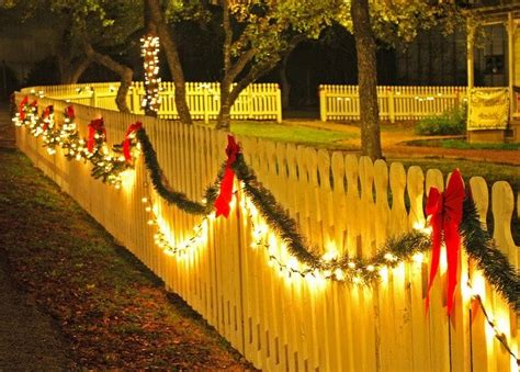 garland for decorating fences 26 best fence ideas images on deco time and ideas