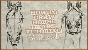 How To Draw Horse Heads From The Front - Tutorial! - YouTube