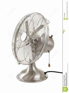 Vintage Four-bladed Oscillating Fan Stock Photo