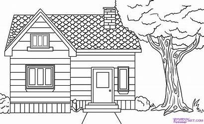 Draw Drawing Drawings Step Easy Houses Beginners
