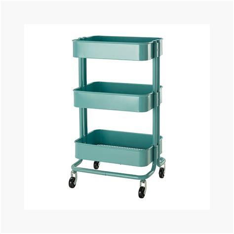 kitchen utility cart raskog home kitchen bedroom storage utility cart turquoise