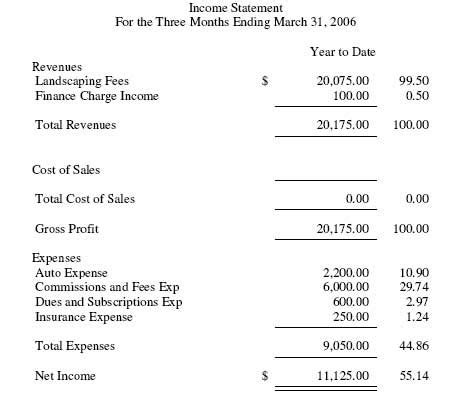 peachtree sage  income statement