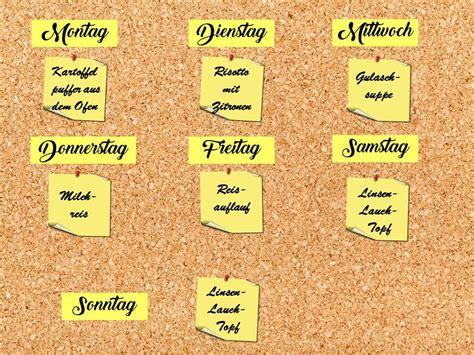 App Haushalt Organisieren by Zeitmanagement K 252 Che Speiseplan Einfache Organisation